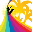 Surfing rainbow — Stock Vector #2958247