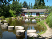 Jardin japonais, nantes — Foto Stock
