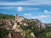 Vue sur le village de Saint Cirq Lapopie, France — Stock Photo
