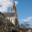 Church of St. Martin in Pau. - Stock Photo