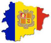 Map and flag of Andorra — Stock Photo