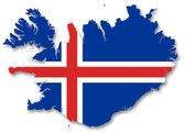 Map and flag of Iceland — Stock Photo
