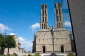 Reflection of the St. Michel's cathedral in Limoges — Stock Photo