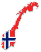 Map and flag of Norway — Stock Photo