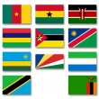 Flags of African menbers of the Commonwealth of Nations — Stock Photo
