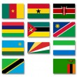 Stock Photo: Flags of Africmenbers of Commonwealth of Nations