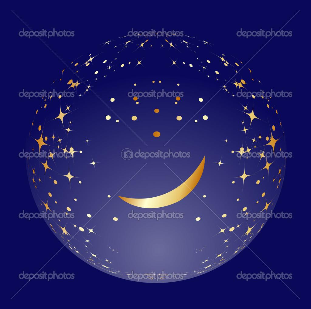 月亮和星星矢量