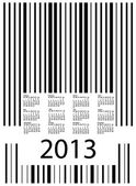 New Year barcode, vector calendar — Vector de stock