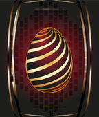 Golden Easter egg with decorative element — Stock Vector