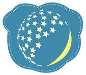 Vector de la luna y las estrellas — Vector de stock