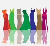 Fashion dresses — Stock Vector