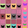 Collection of colored butterflies — Stock Vector