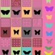kolekce barevných motýlů — Stock vektor