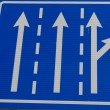 European traffic sign indicating that we are in a one-way road  — Stock Photo