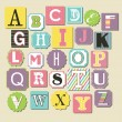 Cute alphabet design. vector illustration - Image vectorielle
