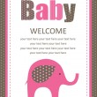 Baby shower card. vector illustration — Stockvektor