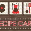 Recipe card design. vector illustration — Vetorial Stock #18850485
