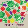 Healthy food card design. vector illustration - Vektorgrafik