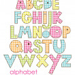 Cute childlike alphabet. vector illustration — Stock Vector
