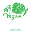 Vegan card design. vector illustration — Stock Vector