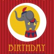 Kid happy birthday card design. vector illustration — 图库矢量图片
