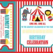 Stock Vector: Kid birthday invitation card design. vector illustration