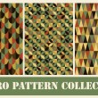 Retro seamless patterns set. vector illustration - Stock Vector