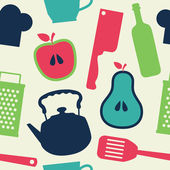 Cute kitchen pattern. vector illustration — Stok Vektör