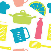 Cute kitchen pattern. vector illustration — 图库矢量图片