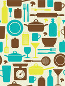Seamless kitchen pattern. vector illustration — Stok Vektör