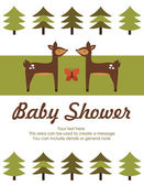 Forest baby shower theme — Stockvector