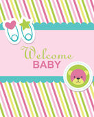 Newborn card — Vetorial Stock