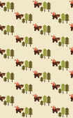 Seamless forest pattern — Vetorial Stock