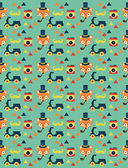 Hipster animal pattern — Vecteur