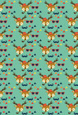 Hipster animal pattern — Stok Vektör
