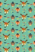 Hipster animal pattern — Vector de stock