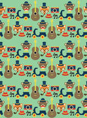 Hipster animal pattern — Vettoriale Stock