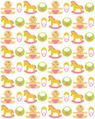Newborn seamless pattern — Vector de stock