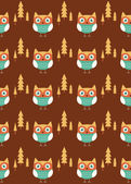 Seamless pattern with owl — Vetorial Stock