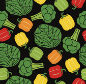 Vegetable pattern — Vector de stock