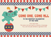 Circus party card — Wektor stockowy