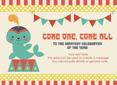Circus party card — Vettoriale Stock