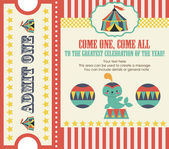 Circus party card — Stockvector