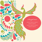 Cute fairy tale bird — Vetorial Stock