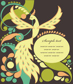 Cute fairy tale bird — Vector de stock