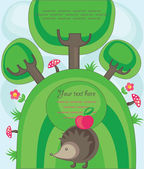 Cute nature scene. vector illustration — Stock Vector