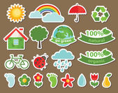 Ecology icons. vector illustration — Stock Vector