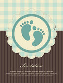 Baby boy announcement card — Stock Vector