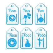 Cook labels set — Stock Vector