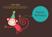 Cute happy birthday card — Vecteur